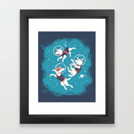 Soviet Space Dogs Framed Art Print
