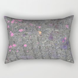 pink slash pavement Bristol graffiti Rectangular Pillow