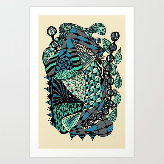 The wind that rocks the leaves Art Print