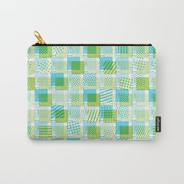 Halftone Moiré - Blue & Green Carry-All Pouch