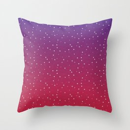 Constellations (Red) Throw Pillow