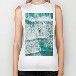 Girl Surfing Biker Tank