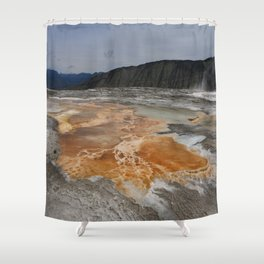 Mammoth Hot Spring Colors Shower Curtain
