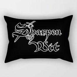Sharpen Thy Wit Rectangular Pillow