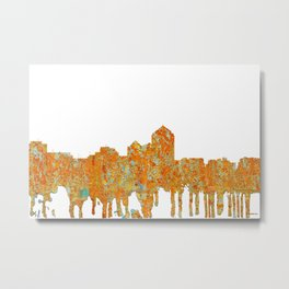 Albuquerque, New Mexico Skyline - Rust Metal Print