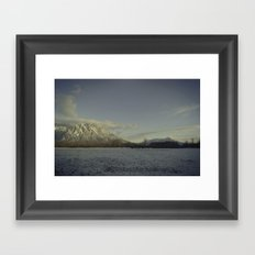snow elk Framed Art Print