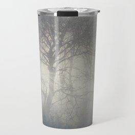 ghosts of November - trees in fog Travel Mug