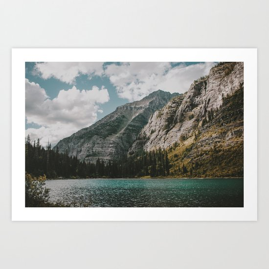 Rocky Mountains Art Print By Hannah Kemp Society6