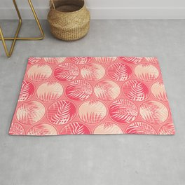 Pink Tropical Coins Rug