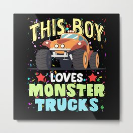 This Boy Loves Monster Trucks Offroad Love Metal Print
