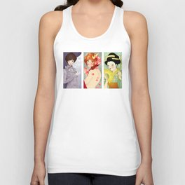 Three: Portrait Triptych Unisex Tank Top