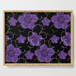 Purple Blooms Serving Tray