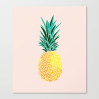 pinapple Canvas Prints featuring Finapple by 83 Oranges™
