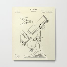 Microscope-1886 Metal Print