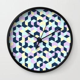 Jagged Colour Jumble Wall Clock