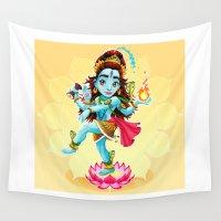 shiva Wall Tapestries featuring Dance of Shiva by Danilo Sanino