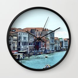 Along the Grand Canal Wall Clock