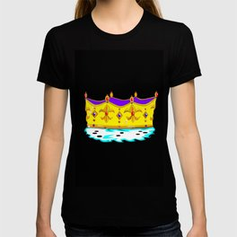 A Royal Gold Crown with Black Background T-shirt