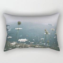 Coastal Flowers Rectangular Pillow