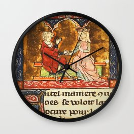 Arthur Legend 2 Lancelot and Guenevere Wall Clock