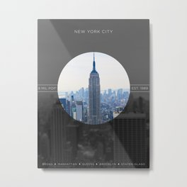 Zoom in to NYC Metal Print