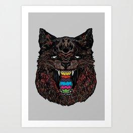 Bakeneko Art Print