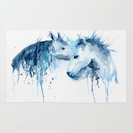 Watercolor Horse Love Rug