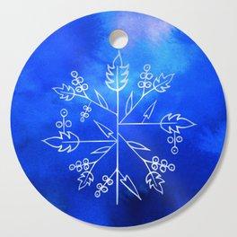 Snowflakes Cutting Board