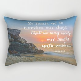 Wise Hearts Scripture Typography Rectangular Pillow