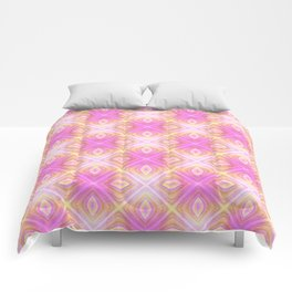 squareprint light pink Comforters