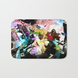 At your service (surreal/ music/ hip hop) Bath Mat