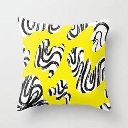 Yellow Leopard II Throw Pillow