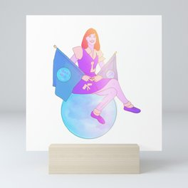 School Spirit (Space Oddity Series) Mini Art Print