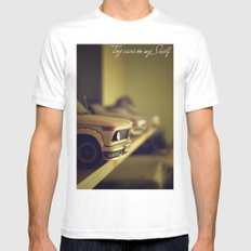 Toy cars on my Shelf MEDIUM Mens Fitted Tee White