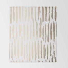 White Gold Sands Vertical Dash Throw Blanket
