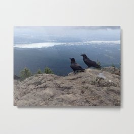 Ravens on Dog Mountain Metal Print