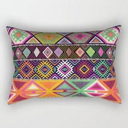 Aztec Artisan Tribal Bright Rectangular Pillow