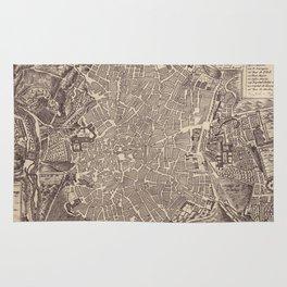 Vintage Map of Madrid Spain (1702) Rug