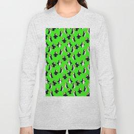Puffin Green Pattern Long Sleeve T-shirt