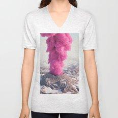 Pink Eruption Unisex V-Neck