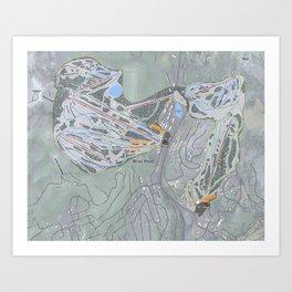Brian Head Resort Trail Map Art Print