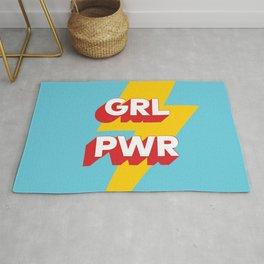 GRL PWR // in Red Blue Rug