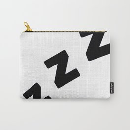 Zzzs in Black Carry-All Pouch