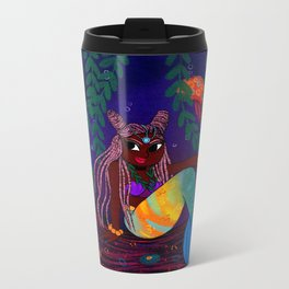 Tropical Mermadia Metal Travel Mug