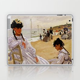 On the Beach at Trouville by Claude Monet Laptop & iPad Skin