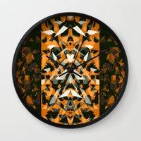 predator Wall Clocks featuring Predator by Ornaart