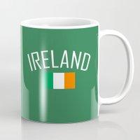 ruben ireland Mugs featuring Ireland by Earl of Grey