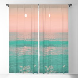 Light Pink Turquoise Waters Blackout Curtain