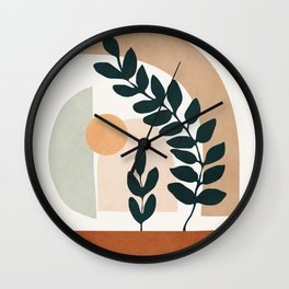 Soft Shapes III Wall Clock