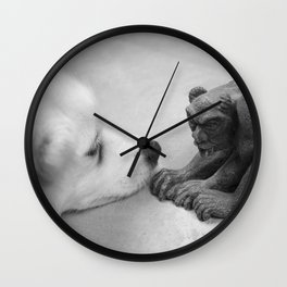 The Dog and The Gargoyle Wall Clock